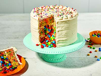 Candy-Stuffed Confetti Cake Recipes