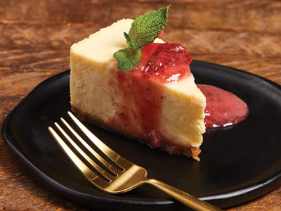 New York-Style Cheesecake with Strawberry Sauce Recipes