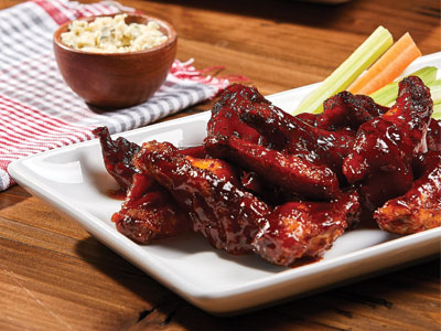 Wings with Bourbon Maple BBQ Sauce Recipes