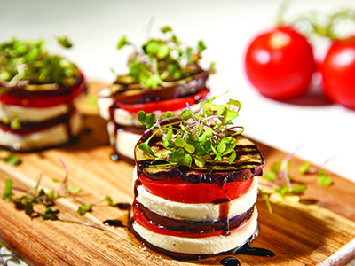 Grilled Eggplant Stacks Recipes