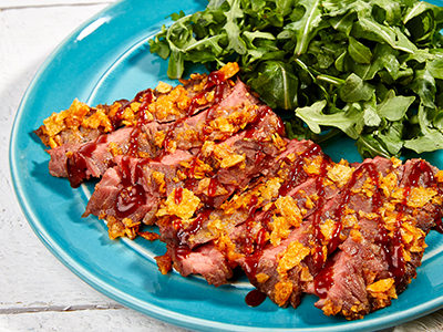 BBQ Chip Crusted Skirt Steak Recipes