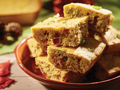 Bacon and Scallion Cornbread  Recipes
