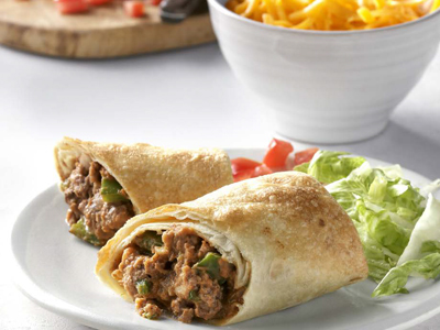 Beef & Bean Chimichangas Recipes