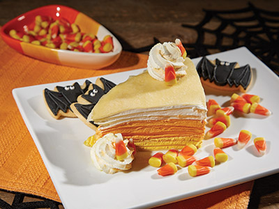 Candy Corn Crepe Cake Recipes
