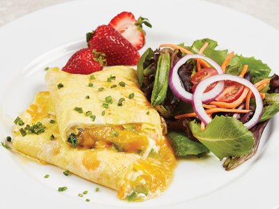 Cheddar Spinach Omelet