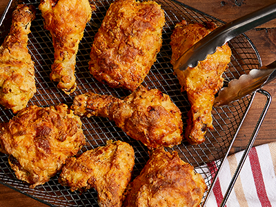 Spicy Buttermilk Fried Chicken with Pepper Jelly Drizzle Recipes