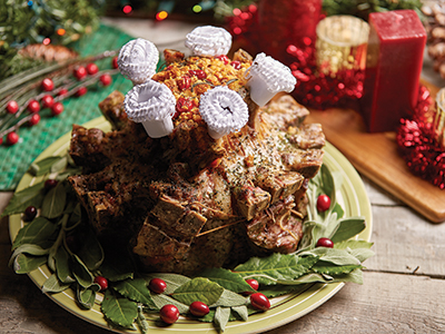 Crown Roast with Cranberry Cornbread Stuffing Recipes