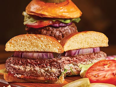 Blue Cheese-Stuffed Burgers