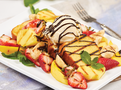 Grilled Pound Cake with Grilled Fruit Recipes