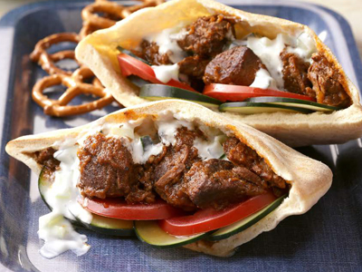 Lamb Pitas with Yogurt Sauce Recipes
