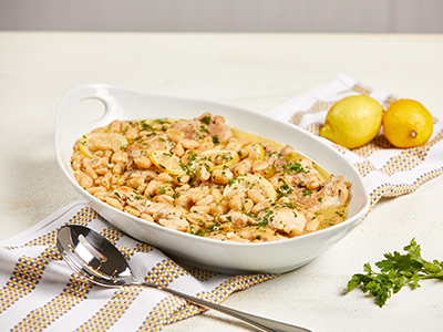 Lemon Garlic Chicken with White Beans