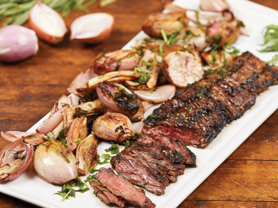 Skirt Steak with Balsamic Shallots Recipes