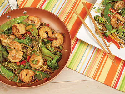 Stir Fried Shrimp over Pan Fried Noodles Recipes