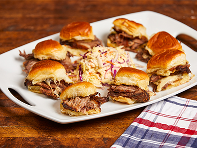 Caramelized Onion Beef Brisket Sliders