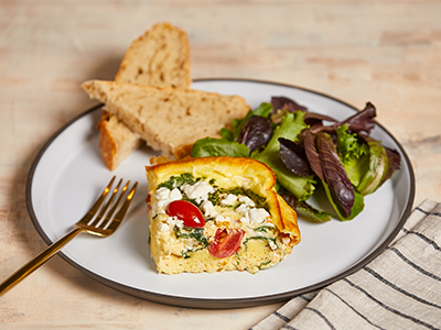 Spinach Tomato Feta Frittata Recipes