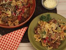Copper Chef Recipes-Bowtie Pasta with Beef Tips