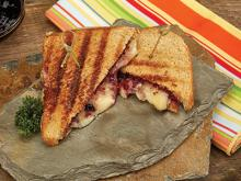 Micro Chef Grill Recipes-Brie and Blackberry Jam Grilled Cheese